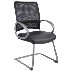 Mesh Back W/ Pewter Finish Guest Chair