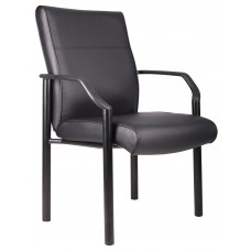 Mid Back Guest Chair In LeatherPlus