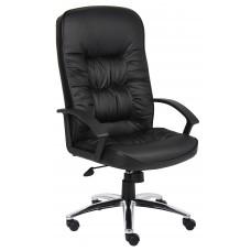 High Back LeatherPlus Chair W/ Chrome Base