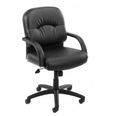 Mid Back Caressoft Chair In Black