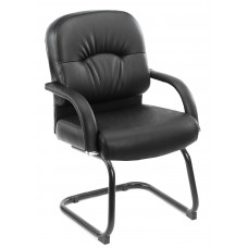 Mid Back Caressoft Guest Chair In Black