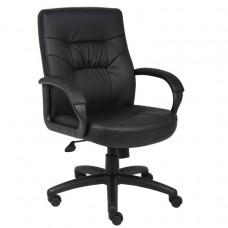 Executive Mid Back LeatherPlus Chair W/ Knee Tilt
