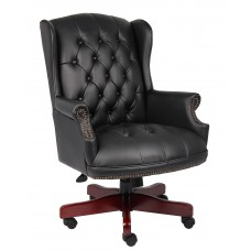 Wingback Traditional Chair In Black