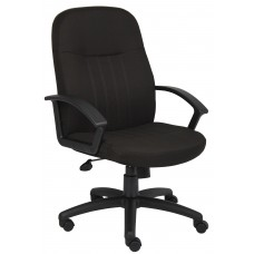 Mid Back Fabric Managers Chair In Black