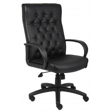 Button Tufted Executive Chair In Black