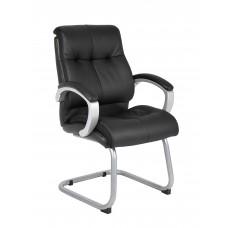 Double Plush Executive Guest Chair - Black
