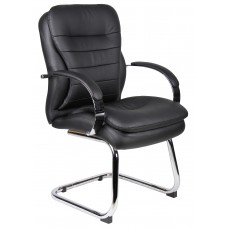 Mid Back CaressoftPlus Guest Chair W/ Chrome Sled Base