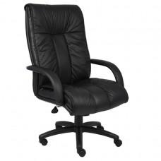 Italian Leather High Back Executive Chair W/ Knee Tilt