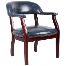 Captain's Chair In Blue Vinyl