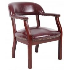 Captain's Chair In Burgundy Vinyl