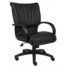 Mid Back Black LeatherPlus Executive Chair