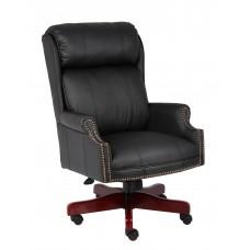 Traditional High Back CaressoftPlus Chair W/Mahogany Base