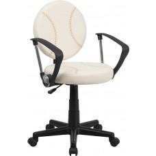 Baseball Swivel Task Chair with Arms [BT-6179-BASE-A-GG]