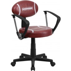 Football Swivel Task Chair with Arms [BT-6181-FOOT-A-GG]