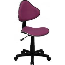 Lavender Fabric Ergonomic Swivel Task Chair [BT-699-LAVENDER-GG]