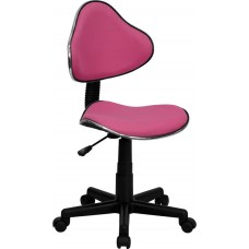 Pink Fabric Ergonomic Swivel Task Chair [BT-699-PINK-GG]