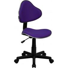Purple Fabric Ergonomic Swivel Task Chair [BT-699-PURPLE-GG]