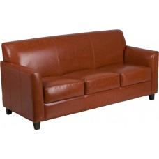 HERCULES Diplomat Series Cognac Leather Sofa [BT-827-3-CG-GG]