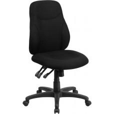 Mid-Back Black Fabric Multifunction Ergonomic Swivel Task Chair [BT-90297M-GG]