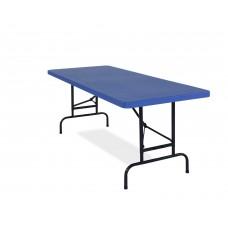 Blue All-American 30x 72 Adjustable Rectangular Folding Table