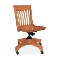 Americana Swivel Armless Chair- All Wood  - Painted