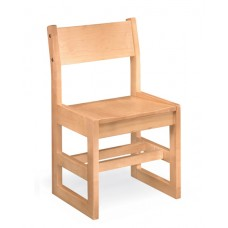 Class Act Armless Chair Sled Base - All Wood - Painted
