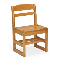 "Classmate 16""H Children's Chair, Sled Base - All Wood"