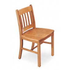 Collegian Vertical Slat Chair - All Wood - Painted