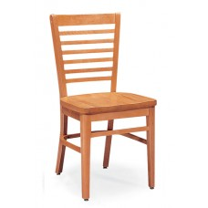 Melrose Horizontal Slat Back Chair - All Wood - Painted