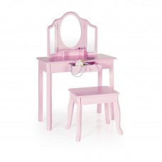 Classic Vanity and Stool - Pink