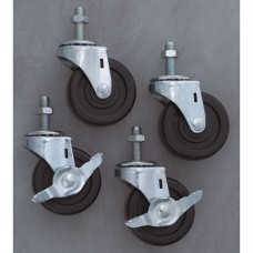 Set of 4  Swivel Casters (two locking)