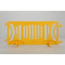 Plastic barricade - Yellow