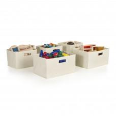 Tan Storage Bins - Set of 5