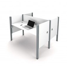 Pro-Biz Double face to face workstation in White