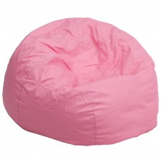 Oversized Solid Light Pink Bean Bag Chair [DG-BEAN-LARGE-SOLID-PK-GG]