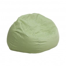 Small Green Dot Kids Bean Bag Chair [DG-BEAN-SMALL-DOT-GRN-GG]