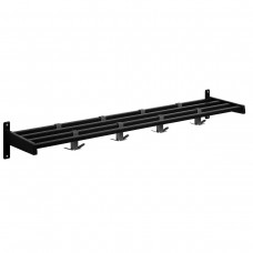 Black 8 Hook Style Wall-Mounted Coat Rack