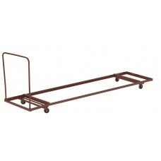 "Brown Folding Table Dolly - Horizontal Storage - Max 96""L"