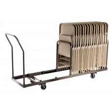 Brown Folding Chair Dolly - Vertical storage - 35 Chair Capacity