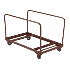 "Brown Folding Table Dolly - Vertical Storage -48""R,  60""R  Tables"