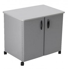 Cart Utility Mobile With Doors 30X21X26.5 Gray/Gray