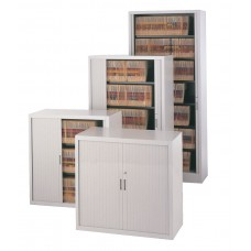 Storage Cabinet File Harbor 7 Shelf With Tambour Doors 83 Inch