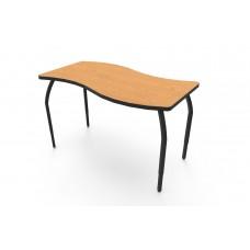ELO® Tide table w/ Bannister Oak laminate, 4 adjustable black legs