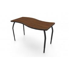 ELO® Tide table w/ Montana Walnut laminate, 4 adjustable black legs