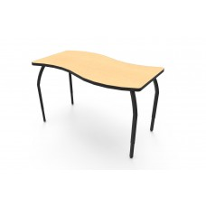 ELO® Tide table w/ Fusion Maple laminate, 4 adjustable black legs