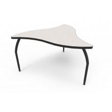 ELO® Manta table w/ Grey Nebula laminate, 3 adjustable black legs