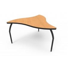 ELO® Manta table w/ Bannister Oak laminate, 3 adjustable black legs