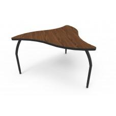 ELO® Manta table w/ Montana Walnut laminate, 3 adjustable black legs