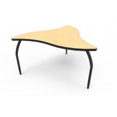 ELO® Manta table w/ Fusion Maple laminate, 3 adjustable black legs