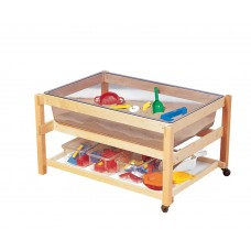 Kit Sand And Water Table Cc With White Tub - Shelf And Cover